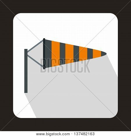 Windsock icon in flat style on a white background