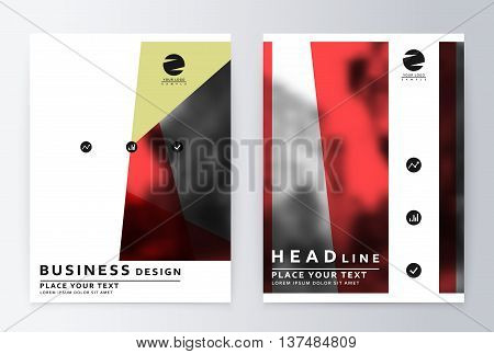 layout design template. Annual report brochure. Business flyer design template. Business paper. Leaflet cover presentation layout in A4 size.