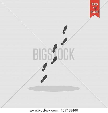 Imprint Soles Shoes Sign Icon. Shoe Print Symbol