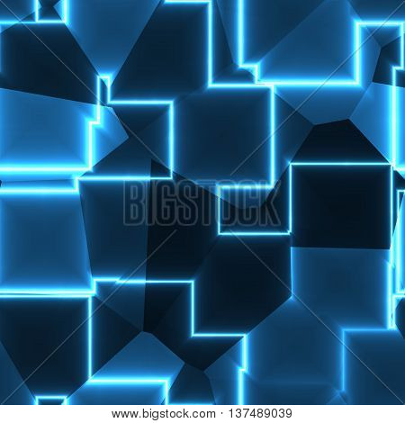 Gleaming bright abstract blue texture or background
