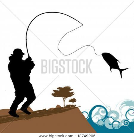 fisher with big fish