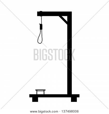 Gallows In Black Color Art Object Illustration