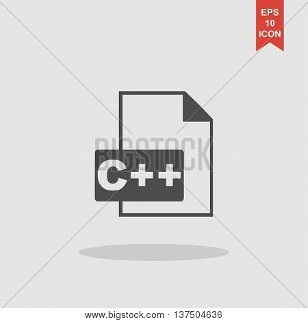 C Icon. Vector Concept Illustration For Design