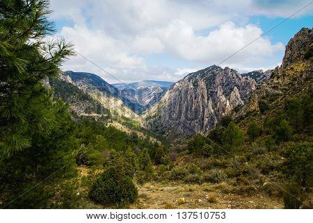 Beautiful landscape at Los organos de Montoro, Teruel, Aragon, Spain