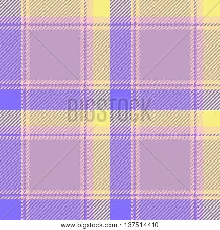Traditional Scottish yellow pink lilac tartan pattern made seamless for kilt or bandana