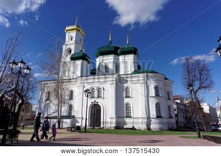 Nizhny Novgorod Russia. - April 22.2016. Church of the Ascension of the Lord the street Ilyinskaya 54