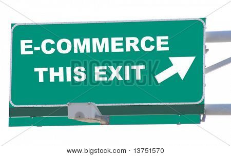 Exit sign concepts E-commerce this exit isolated