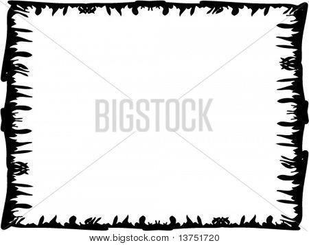A abstract vector border