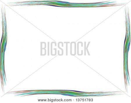 A wavy vector border