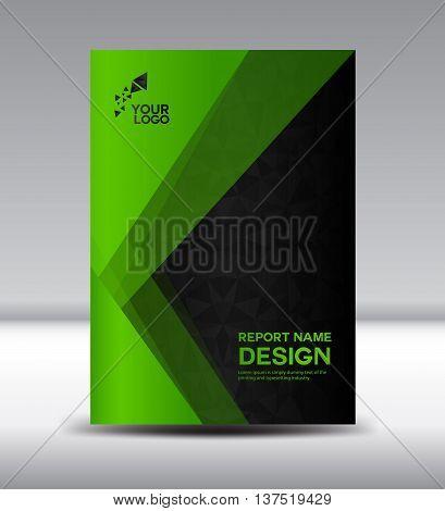 Green Cover design Annual report vector templater illustration booklet poster Brochure flyer