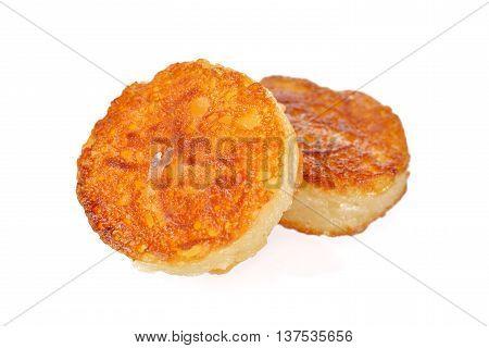Thai pancake or Ba-Bin on white background