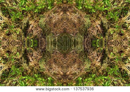 Abstract geometric seamless plain background. Ornate and extensive pattern green shades, quiet color.