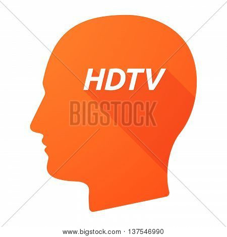 Isolated Long Shadow Male Head With    The Text Hdtv