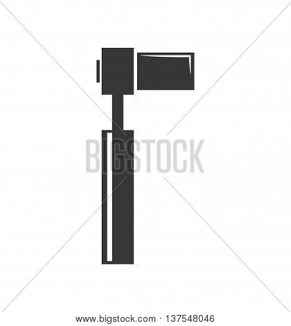 Constuction and repair concept represented by wrench tool icon. isolated and flat illustration