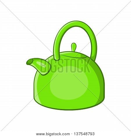 Kettle icon in cartoon style isolated on white background. Utensils symbol