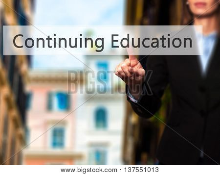 Continuing Education - Successful Businesswoman Making Use Of Innovative Technologies And Finger Pre