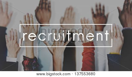 Recruitment Human Resources Employment Hiring Concept
