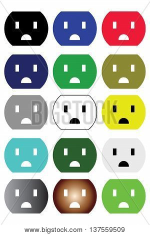 Outlet Icon outlet electric plug vector symbol computer icon