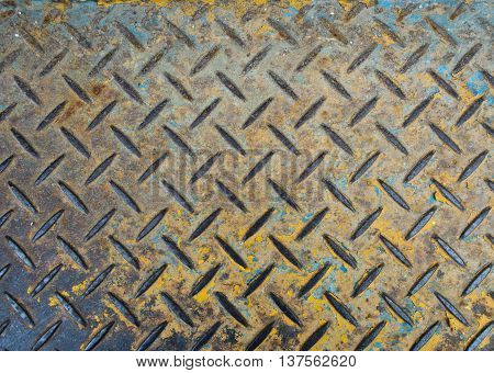 Texture of floor made by Checker plate