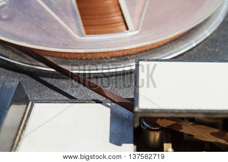 Magnetic Recording Tape In Reel Close Up