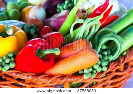 Tropical fruits and Vegetables, Vegetables, fruit turnovers.