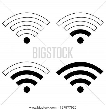 WiFi Signal Symbol Icon wireless technology symbol internet sign bandwidth