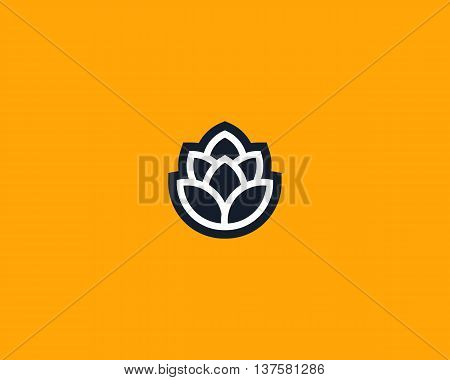 Barley shape for brewery logotype. Beer vector logo design template. Pub modern symbol. Stylized mug of beer badge emblem