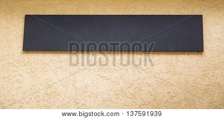Blank black billboard with copy space for your text message or promotional content public information board on the street advertising mock up empty banner clear poster.