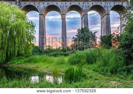 Sunset At Digswell Viaduct In The Uk