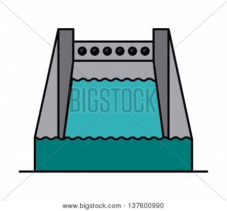 hydropower isolated icon design, vector illustration  graphic