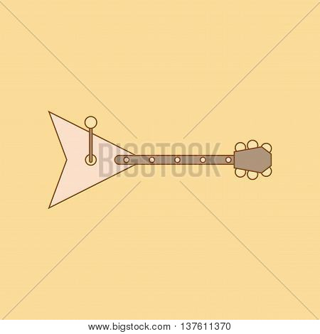 flat icon on stylish background Kids toy balalaika, vector illustration