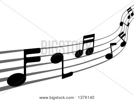 Music Notes ( vector + rasterized illustration ) poster