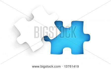 Puzzle with missing peice