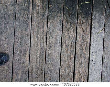 Wooden walkways Dark brown. Tract or connected