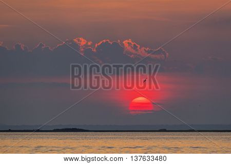 Sunset at Fire Island, USA