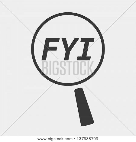 Isolated Magnifying Glass Icon Focusing    The Text Fyi