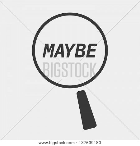 Isolated Magnifying Glass Icon Focusing    The Text Maybe