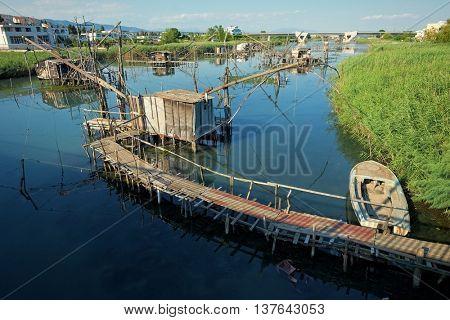 Ulcinj Port Milena fishing huts, Montenegro