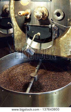 Coffee Roaster Closeup Photo