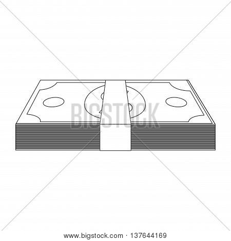 money bill rich, wad of cash , isolated vector illustration