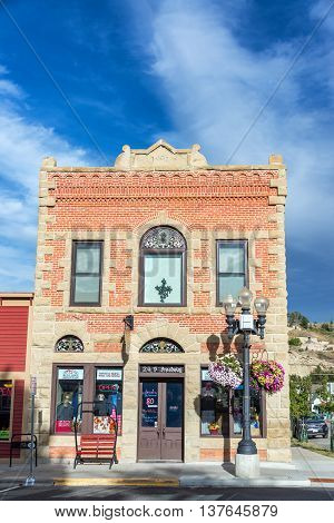 Old Brick Building In Red Lodge, Montana