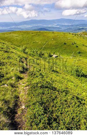 Path Among Stones On Hillside