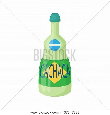 Cachaca icon in cartoon style isolated on white background. Brazilian alcoholic drink symbol