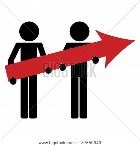 man icon avatar arrow business growth isolated vector illustration