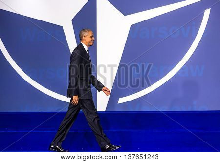 Us President Barack Obama At The Nato Summit In Warsaw