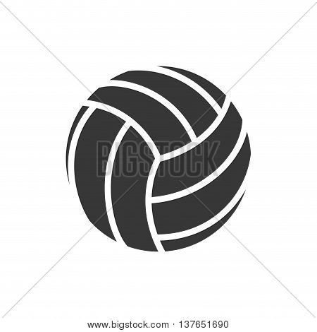 Sport concept represented by Volleyball icon. Isolated and flat illustration