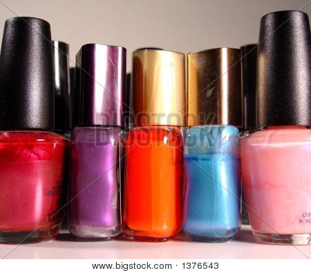 Various Nail Polish Bottles