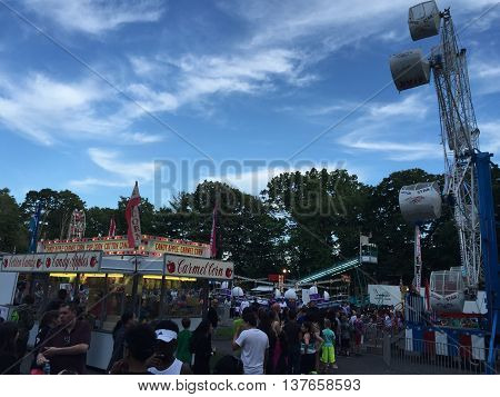 STAMFORD, CT - JUNE 10: Carnival at the Stamford Annunciation Greek Festival in Connecticut, as seen on June 10, 2016. Stamford is the third largest city in Connecticut.