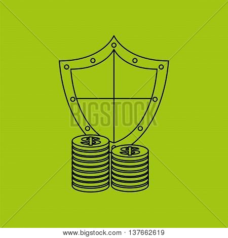 ensure protection insurance risk money isolated, vector illustration
