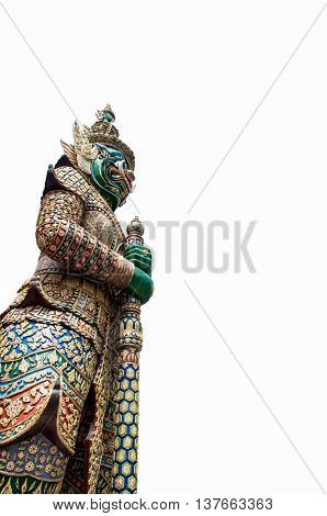 image of temple guardian isolated on white background
